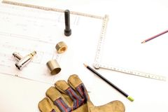 Empty space work objects Stock Photo