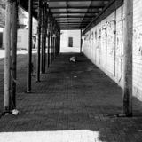 Empty spaces. Ampty spaces blackandwhite street noman royalty free stock photo