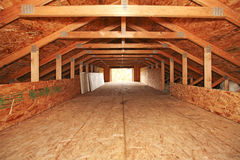 Empty spacious velux room Royalty Free Stock Image