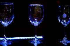 Empty sparkling glasses Stock Photos