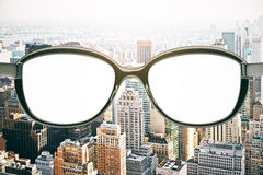 Empty spectacle lenses Stock Photos