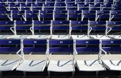Empty spectator seats Stock Photo