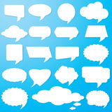 Empty speech bubbles paper Stock Images