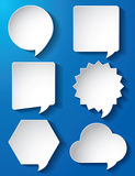 Empty speech bubbles paper vector Stock Photo