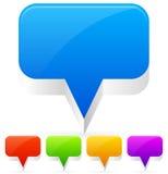 Empty Speech / Talk Bubbles, Map / Location Markers Stock Photo