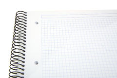 Empty spiral blank notebook on a white background Royalty Free Stock Images