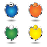 Empty sport badges Royalty Free Stock Image