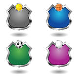 Empty sport badges set Stock Image