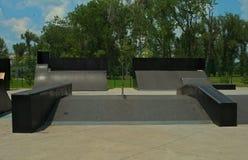 Empty Sports Complex Skateboard Park at Liman park, Novi Sad, Serbia royalty free stock photos