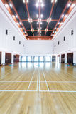 Empty sports court. Badminton gym Royalty Free Stock Photos