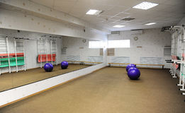 Empty sports fitness gym for workouts Stock Images