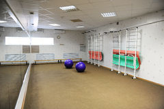Empty sports fitness gym for workouts Royalty Free Stock Photos
