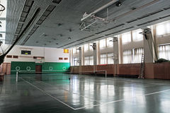 Empty sports hall Stock Photo