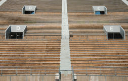 Empty Sports Stadium Bleachers Royalty Free Stock Image