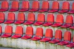 Empty sports tribune. Red arena Royalty Free Stock Photos