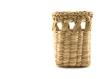 Empty square basket, container, isolated Stock Images