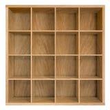Empty square bookshelf or bookcase 3d illustration Royalty Free Stock Photos