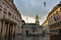 Empty Square in Bratislava, Slovakia Stock Photo