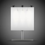 Empty square mockup billboard with spotlights and Royalty Free Stock Photos