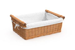 Empty square shape wicker baskets Stock Images