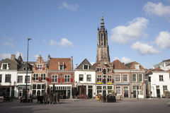 Empty square on a sunday morning in Amersfoort Stock Photography