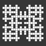 Empty Squares British-style Crossword Grid. Vector Stock Images