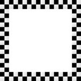 Empty squarish checkered frame, border Stock Photos