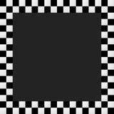 Empty squarish checkered frame, border Stock Photo