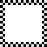Empty squarish checkered frame, border Royalty Free Stock Photos
