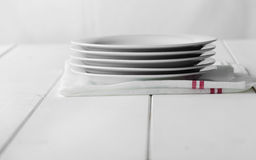 Empty stack of dishes Stock Photography