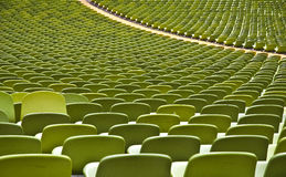 Empty stadium. Many rows of seating in the olympic stadium of munich, bavaria, germany Stock Image