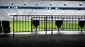 Empty Stadium. An empty Arena Stadium in Munich, Germany royalty free stock photos