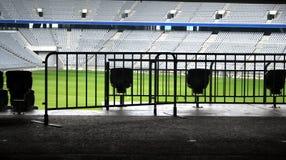 Empty Stadium. An empty Arena Stadium in Munich, Germany Royalty Free Stock Photos