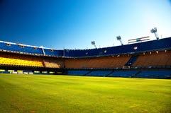 Empty Stadium. La Bombonera, home of the Boca Juniors soccer team in Buenos Aires, Argentina Stock Photos