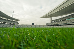 Empty Stadium. Shot from playing field Royalty Free Stock Images