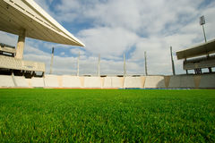 Empty Stadium. Seen from the soccer field center Stock Image