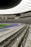Empty Stadium. The Olympiastadion (Olympic Stadium) is a sports stadium in Berlin, Germany Royalty Free Stock Photography