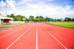 Empty stadium arena and race running. This is empty stadium arena and race running track treadmill background Stock Image