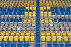 Empty stadium chairs Stock Photos