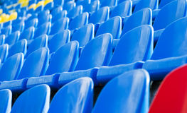 Empty stadium chairs background Royalty Free Stock Image