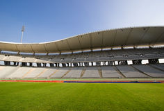 Empty Stadium and The Field Stock Photo