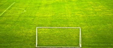 Empty stadium field Royalty Free Stock Images
