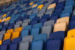 Empty stadium before the match with rows of seats a Royalty Free Stock Photo
