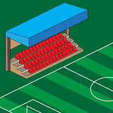 Empty stadium red seats illustration Stock Photo