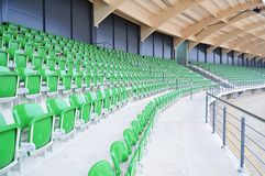 Empty stadium seating. View of empty stadium seating royalty free stock images