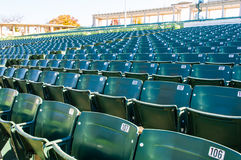 Empty stadium seating in large amphitheater Royalty Free Stock Images