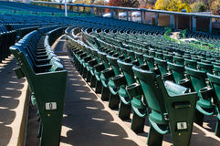 Empty stadium seating in large amphitheater Royalty Free Stock Photos