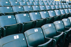 Empty stadium seating in large amphitheater Stock Photo