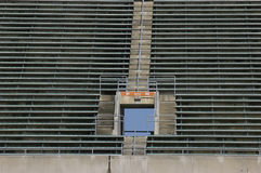 Empty stadium seats. Stadium section before the game Royalty Free Stock Images