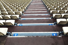Empty stadium seats. In rows Royalty Free Stock Images